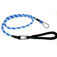 "Climbing Rope Dog Leashes With Carabiner Clasp Hook - Soft Padded Handle - Five Foot Long 1/2"" Thick Reflective Threading Dog Lead Leash Great For Dogs Horses Extra Strong By Diezel Pet Products"